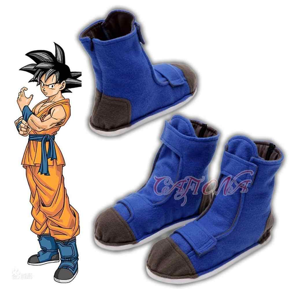 Hot Anime Dragon Ball Cosplay Kakarotto Cosplay Shoes Son Goku Cosplay Boots Lembut