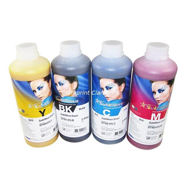 4 цвета/набор оригинальный Inktec SubliNova Смарт (DTI) сублимации краски чернила для струйных принтеров с DX4 DX5 печатающая головка 1000 мл бутылки