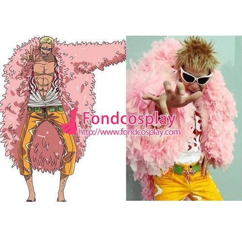 371a32c49d9 One Piece Donquixote Doflamingo Jacket Coat Gown Cosplay Costume Tailor-made