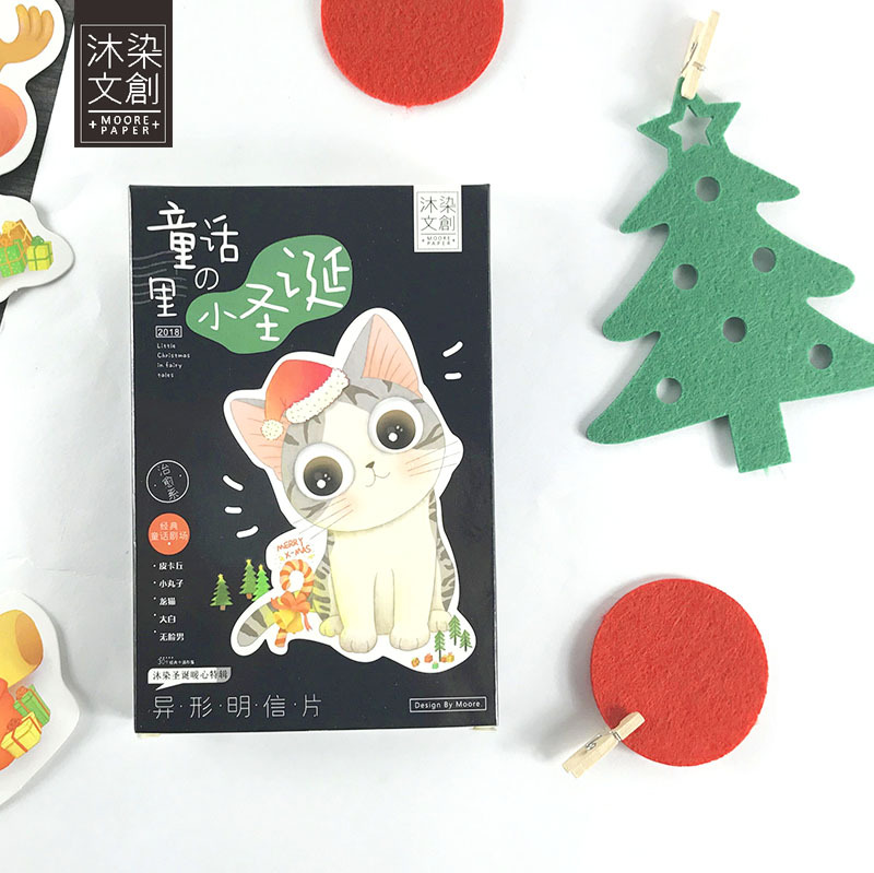 Christmas Gift Cards 30pcs/pack Japanese Cartoon Postcards Animation Christmas Post Card Cute Letter Pads Kawaii Gifts
