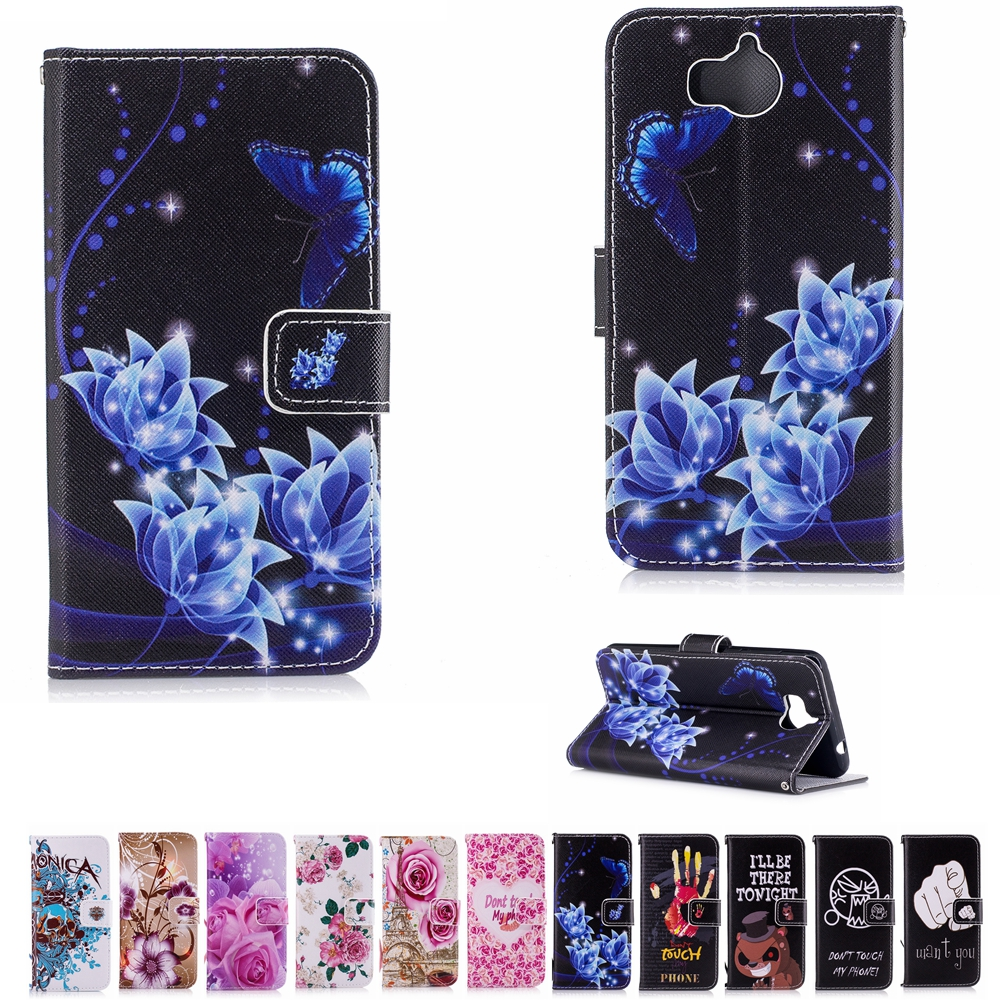 huawei kii l05 case. dd biscus for huawei y5 2017 case flower wallet leather flip y6 kii l05