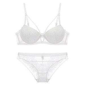Image 2 - Varsbaby Womens bra set gathered sexy lace comfortable underwear