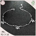 Hot Sale Fashion 100% 925 Genuine Silver Hobbyhorse Pendant Charm Anklets For Ladies