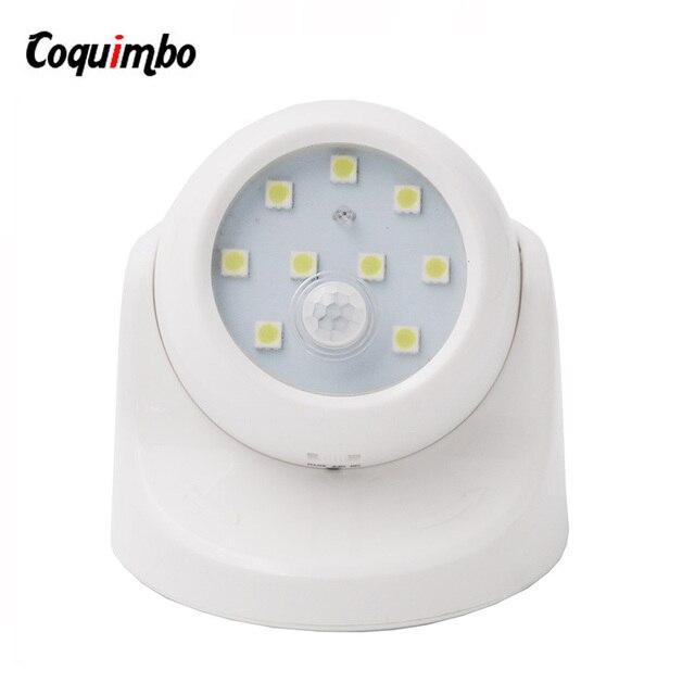 360 Degree Rotation Motion Sensor Light 3*AAA Battery Powered Lamp 2 Modes LED Night Light Baby Night Lamp Corridor Wall Light