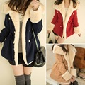 OC Fairy Store Hot Selling Drop Shipping 1PC Winter Fashion Warm Double-Breasted Wool Blend Jacket Women Coat