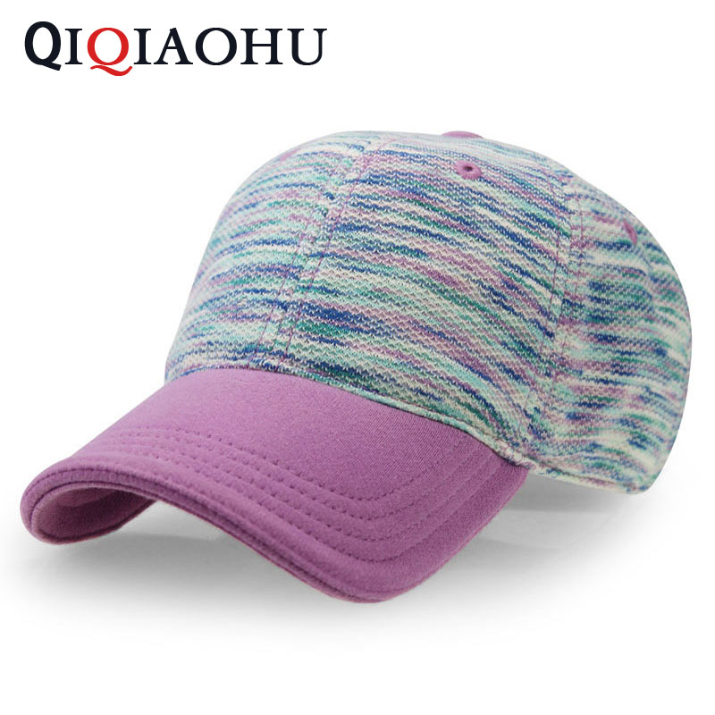 2018 Best Fashion Baseball Cap Casquette Snapback Hat Women Cotton Gorras Casual Purple Caps Knitting Colorful Soft Dots Hats aetrue winter beanie men knit hat skullies beanies winter hats for men women caps warm baggy gorras bonnet fashion cap hat 2017
