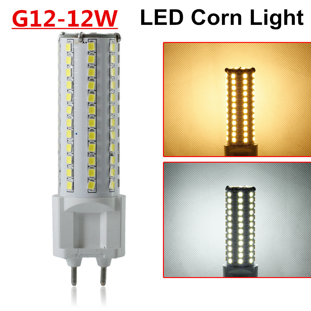 G12 LED Lamp 12W AC85 265V Ultra Bright 2835SMD White Warm White 360 Degree LED Corn