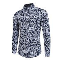 2018 Adam ÇIÇEK erkekler Gömlek elbise Uzun Kollu Sonbahar Ve Kış Render Erkek Beyaz masculina fransız manşet Ücretsiz kargo