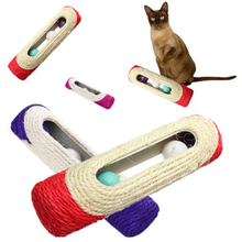 Rolling Sisal Sphynx Cat Scratching Post with Trapped Ball