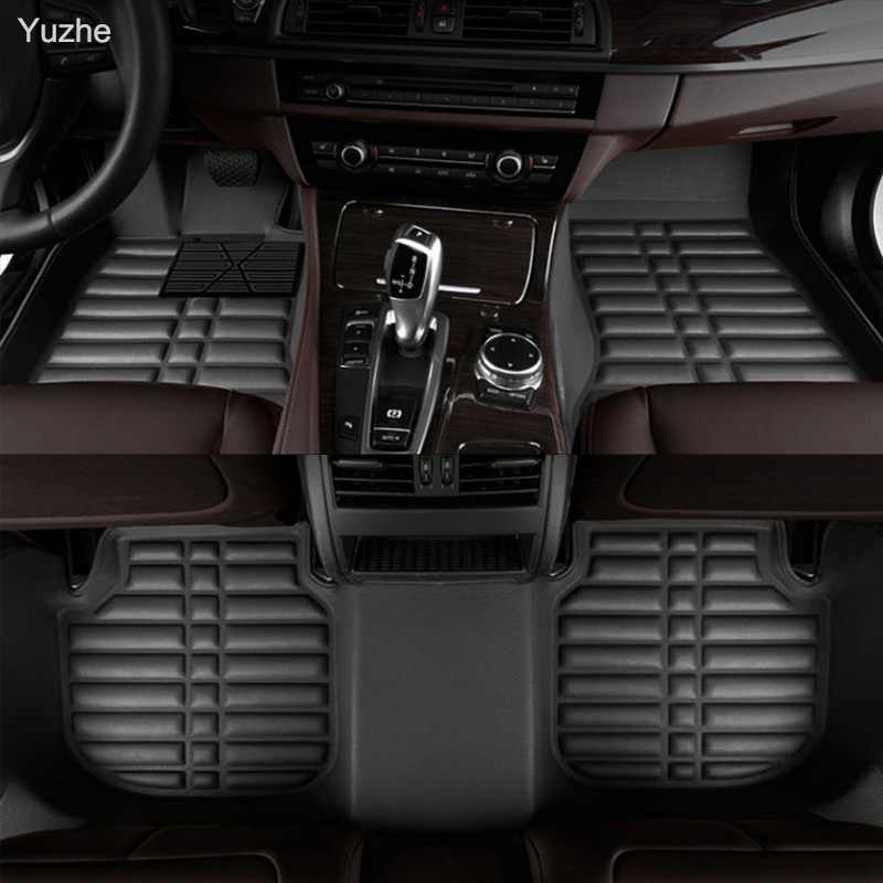 Yuzhe الحصير سيارة مخصصة ل crv اتفاق crider السيارات xrv القدم civic 2008 2006 الحصير الحصير البضائع الجلد 3d الكلمة بطانات