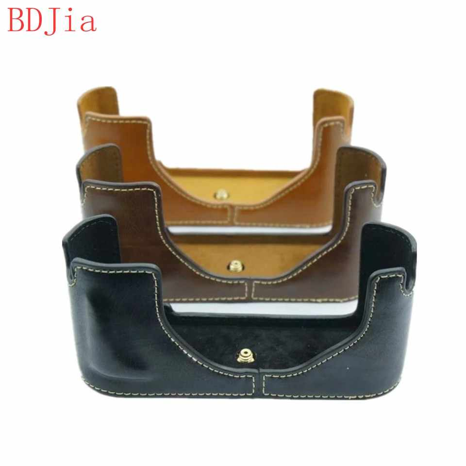 Newest Fashional Camera Bag Case For Leica M9-P M9 M8 M-E PU Leather Half Body Set Cover With Battery Opening, Free Shipping
