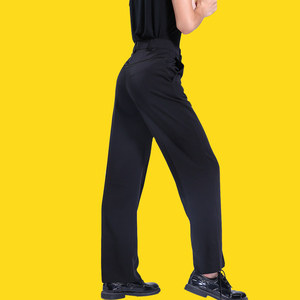 Image 5 - שחור לטיני מודרני אולם נשפים ביצועים מכנסיים בני גברים לטיני ריקוד מכנסיים