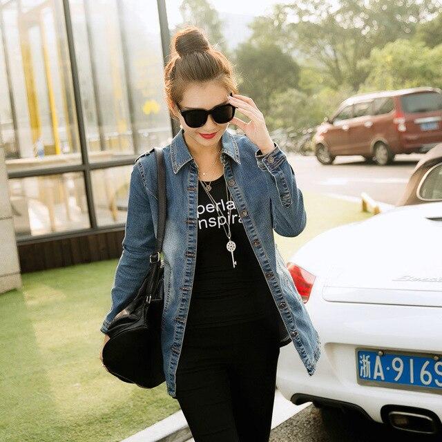 2015 Hitz тонкий с длинными рукавами джинсовая куртка Ветровка Куртка Женщин