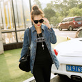 2015 Hitz slim long sleeved denim jacket Windbreaker Jacket Women