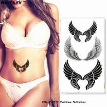 Nu-TATY Sexy Angel Wings Temporary Tattoo Body Art Arm Flash Tattoo Stickers 17x10cm Waterproof Fake Henna Painless