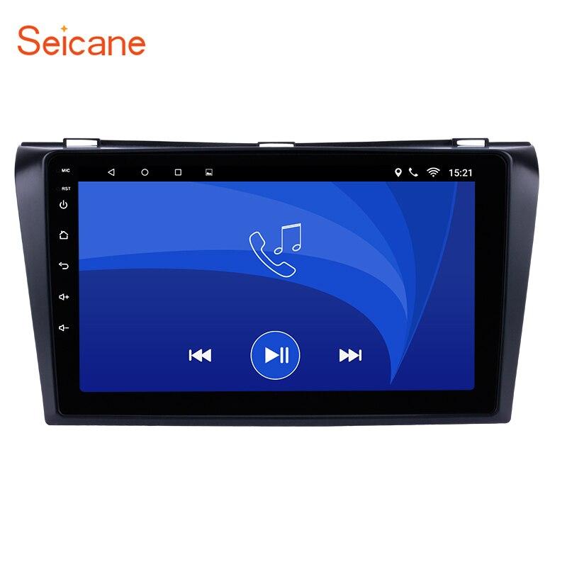 Seicane 9 pouce Android 7.1/6.0 GPS Navigation de la Voiture Radio pour 2004-2009 Mazda 3 avec Bluetooth WIFI Miroir Lien OBD2