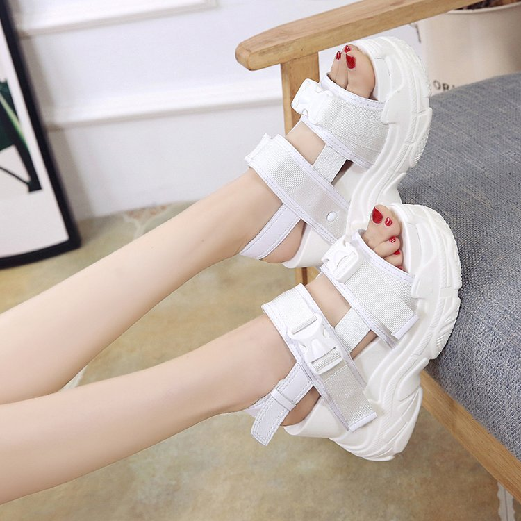 HTB1Zb 5bifrK1RjSspbq6A4pFXaX Fujin High Heeled Sandals Female Increased Shoes Thick Bottom Summer 2019 New Women Shoes Wedge with Open Toe Platform Shoes