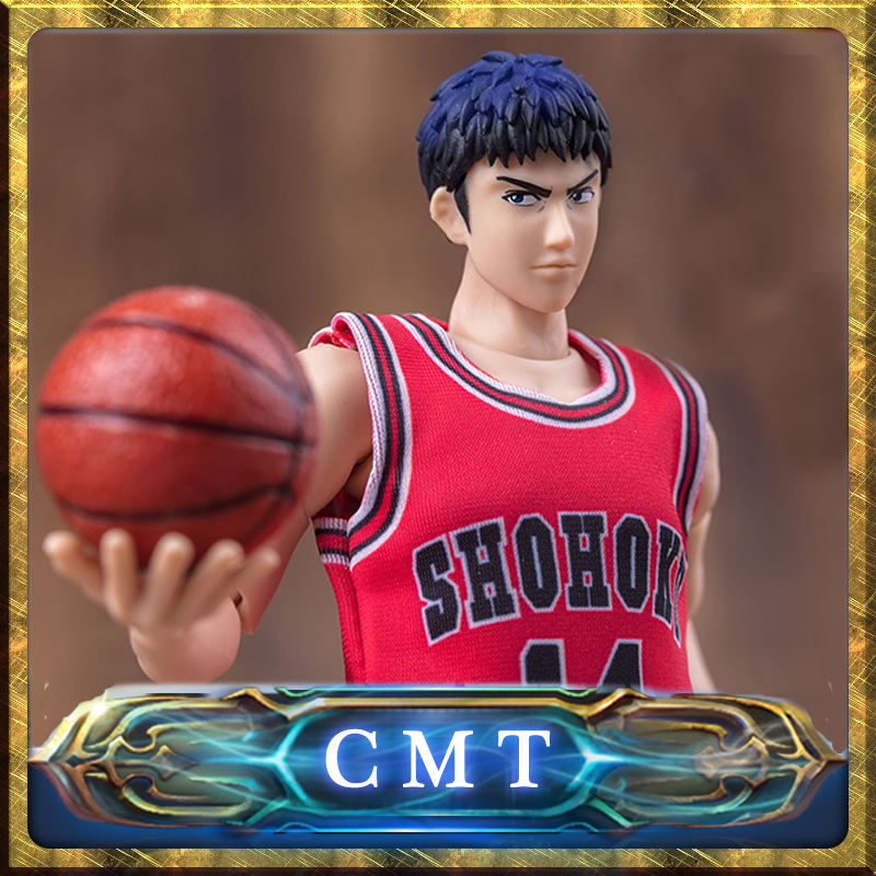 CMT Instock Dasin Model Slam Dunk Basketball #14 Mitsui Hisashi S.H.Figures S.H.F Action Figure Anime PVC Toys Figure 2015 slam dunk action figures 5 pcs set japanese anime figure 8cm hot toys pvc cartoon figure kid gift brinquedo free shipping