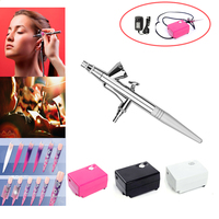 Mini Compressor Airbrush 0.4mm Tattoo Art Face Paint Foundation Make Up Air brush nail tools Craft Air Spray Paint Toy Models
