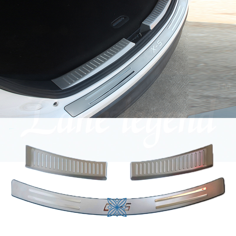 REAR OUTER BUMPER PROTECTOR TRIM DOOR SILL SCUFF COVER PLATE ACCESSORIES Fit For <font><b>Mazda</b></font> CX-5 <font><b>CX5</b></font> 2012 2013 2014 <font><b>2015</b></font> <font><b>2016</b></font> image