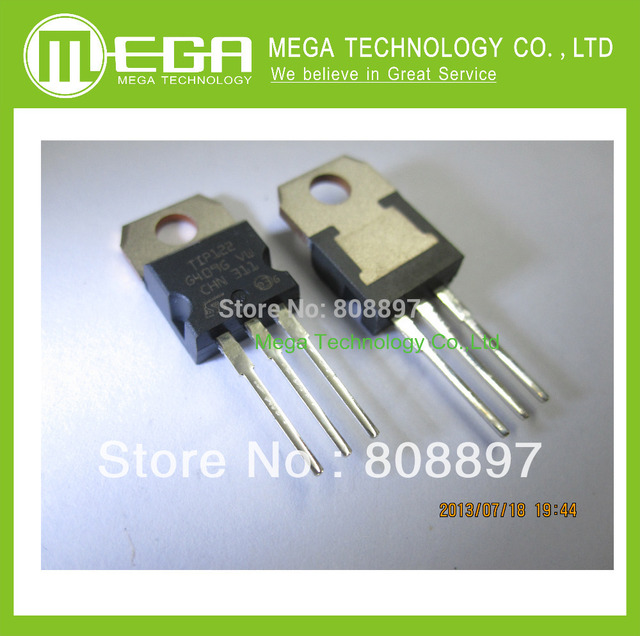 Free Shipping 100PCS TIP122 TO-220 NPN 100V 5A