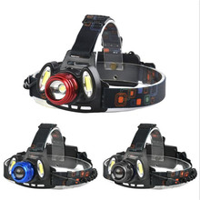 3x XML T6 Rechargeable Headlamp HeadLight Torch USB Lamp