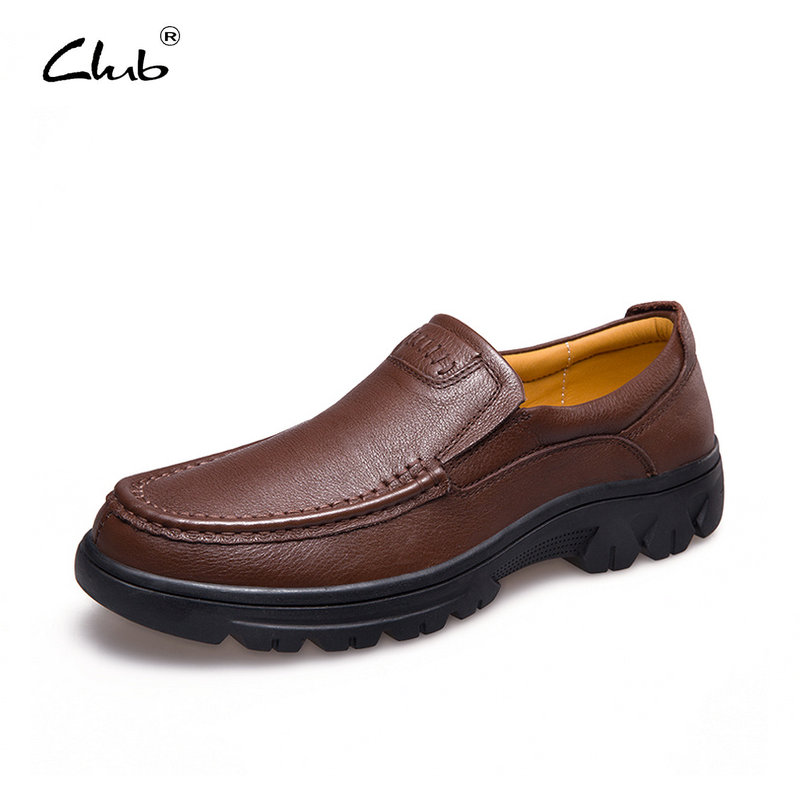 Club Genuine Leather Causal Men Shoes Plus Size 37-47 Men Oxfords Shoes Fashion Men Loafers Flats Slip-On Moccasins Men Brand dxkzmcm new men flats cow genuine leather slip on casual shoes men loafers moccasins sapatos men oxfords