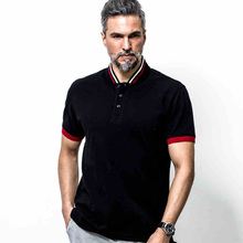 2016 large size men's cotton 100% XL-6XL casual shirt POLO men's business casual loose fashion brand clothing WZ115