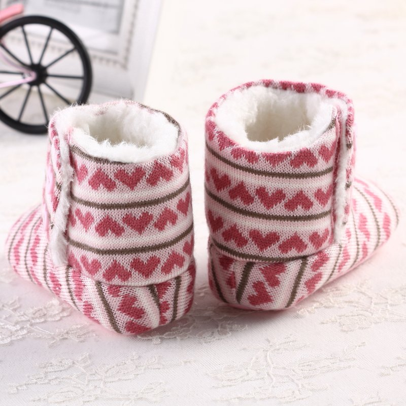 Newborn Winter Super Warm Girls Baby Prewalker Keep Warm Infant Toddler Princess Bebe Crib Snow Knitting Shoes