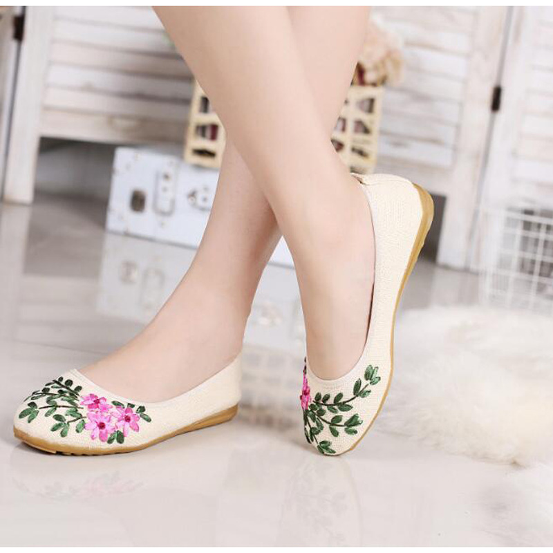 Women summer flats 2017 casual flower breathable zapatos de mujer high quality hemp slip-on round toe comfortable female flats sweet women high quality bowtie pointed toe flock flat shoes women casual summer ladies slip on casual zapatos mujer bt123