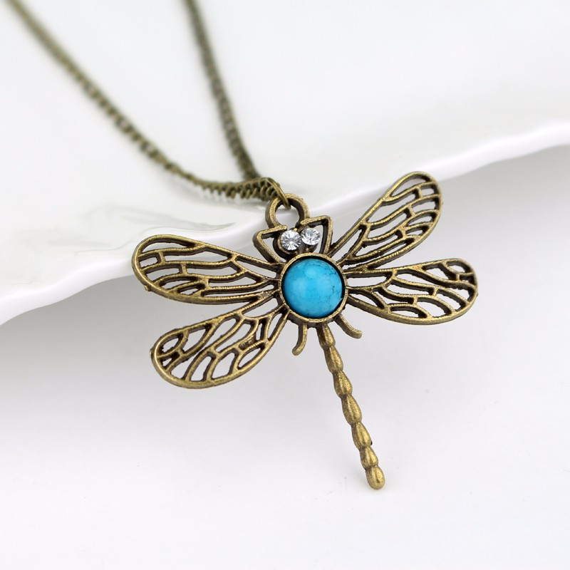 Free Shipping Fashion Game of Thrones Song of Ice And Fire Inspired Sansa Stark Dragonfly Necklace Jewelry gift for women men image