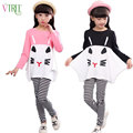 V-TREE  girls clothing set full shirt+leggings outfits girls clothes sets for teenage kids cartoon girl clothes suit for girls