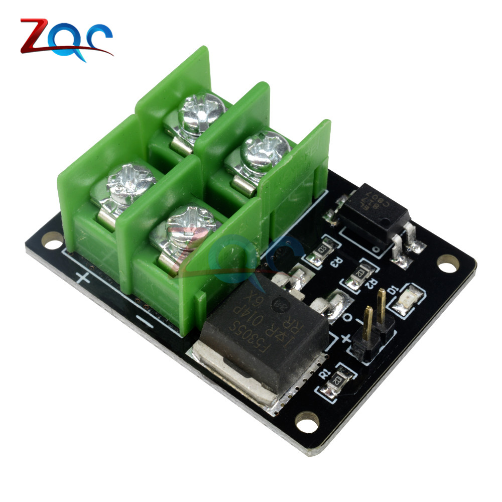 все цены на 3V 5V Low Control High Voltage 12V 24V 36V switch Mosfet Module For Arduino Connect IO MCU PWM Control Motor Speed 22A онлайн