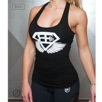 2017 Women Cotton Gyms Tank Tops Bodybuilding Fitness Sexy Tank Shirts ClothesWomens Stringer Gyms Clothing Body