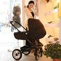 Cochecito de bebé de dos vías de cuatro ronda europea del carro de bebé puede estar sentado en un paisaje de alta plegable bebé súper ligero carro