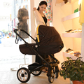 European baby stroller two-way four round of baby trolley can be sitting in a high landscape folding super light baby cart