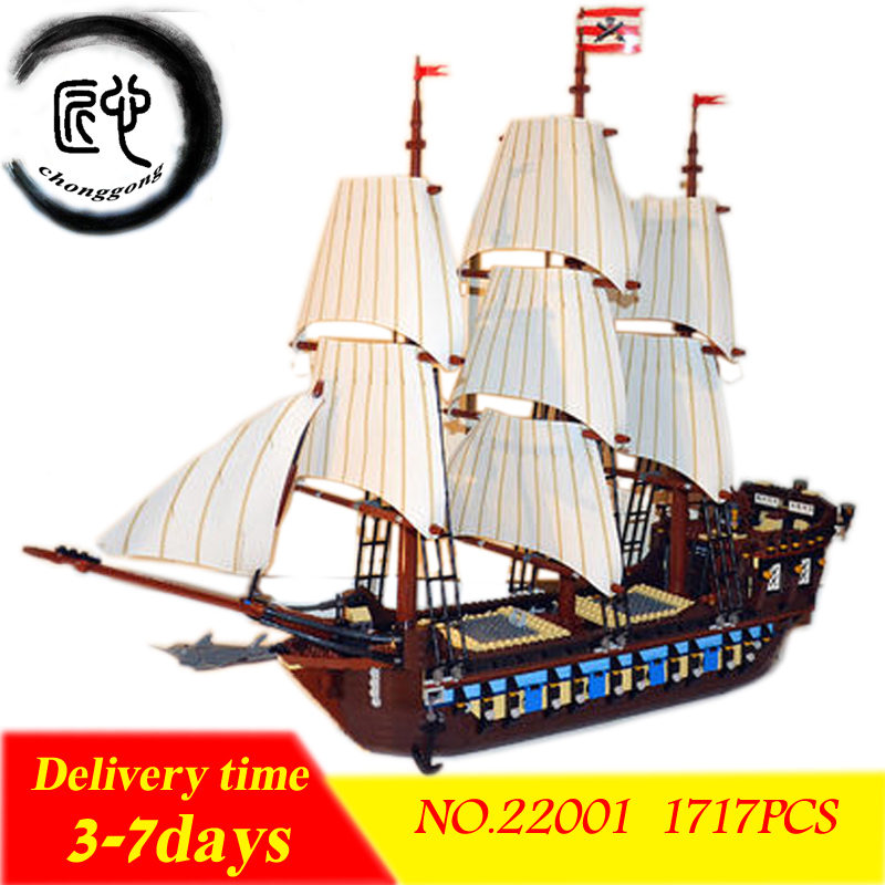 NEW 22001 Pirate Ship Imperial warships Model Building Kits Block Briks Toys Gift Legoing 10210 Toys For Children