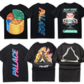 Palace T shirt Men Women Summer Style Cotton Flame Palace Skateboards Brand Clothing T Shirts Top Tees Palace fitness T-shirt