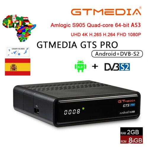 IPTV Cccam GTmedia GTS PRO Android 6 0 Smart TV BOX Amlogic S905D Combo  DVB-S2 Satellite Receiver 2G/8GB BT4 0 Set top box