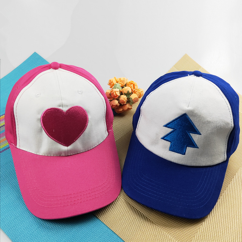 New Cotton Tree Embroidery Gravity Cartoon Mabel Dipper Pines Cosplay Cool Baseball Caps Adjustable Gravity