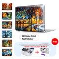 Ciudad de La moda de Noche Pintura Al Óleo Hard Case Mate Para Apple Mac MacBook aire 11 13 Pro 13 15 Retina 12 Shell Bolso Del Ordenador Portátil Del Envío regalo