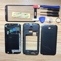 Replacement Mobile Phone Full Housing Cover Case + Outer Screen Glass Lens+Tools For Samsung Galaxy Note 2 II N7100