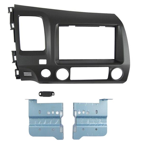 Double Din Car DVD Frame Dash Kit for Honda Civic 2007 2011 Left Wheel Radio Front