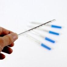 2 шт./лот, стеклянный клинический ртутный термометр для дома, для взрослых и детей, температура тела, тест, подмышек, полости рта, специальный