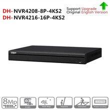 DH 4 К NVR NVR4208-8P-4KS2 NVR4216-16P-4KS2 с PoE Порты и разъёмы Поддержка 4 К POE H.265 2 SATA для профессии IP Камера безопасности Системы