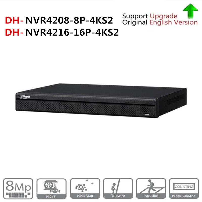 DH NVR4216-16P-4KS2 NVR4208-8P-4KS2 NVR Com PoE Apoio Portuário 4 4 k k H.265 2 SATA Para Profissão Câmera IP POE sistema de segurança