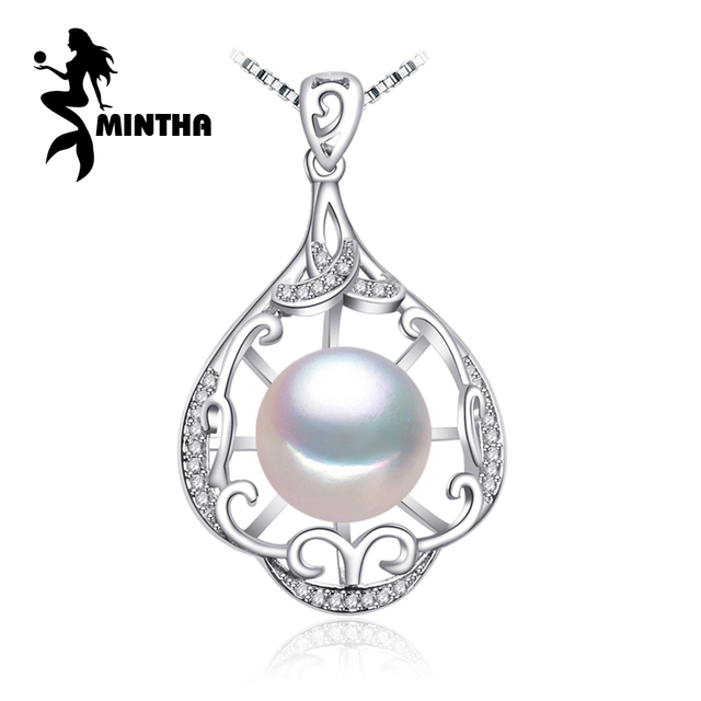 Mintha pearl jewelry natural pearl pendant necklace sterling mintha pearl jewelry natural pearl pendant necklace sterling silver bohemian party jewelry necklace women big flower mozeypictures Image collections