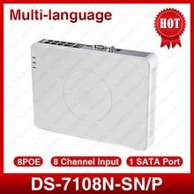 Hik DS-7108N-SN/p Многоязычная plug & play 8CH PoE NVR для HD IP Камера с 8 независимых poe