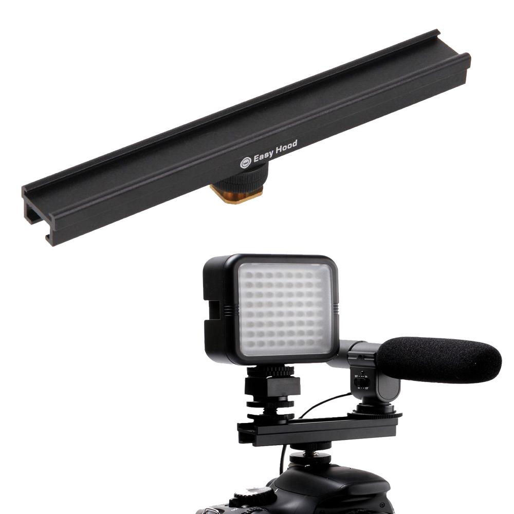 Prix pour 20 cm 8 '' caméra Hot Shoe froide Extension ferroviaire Bar de support pour Flash LED lumière vidéo Microphone