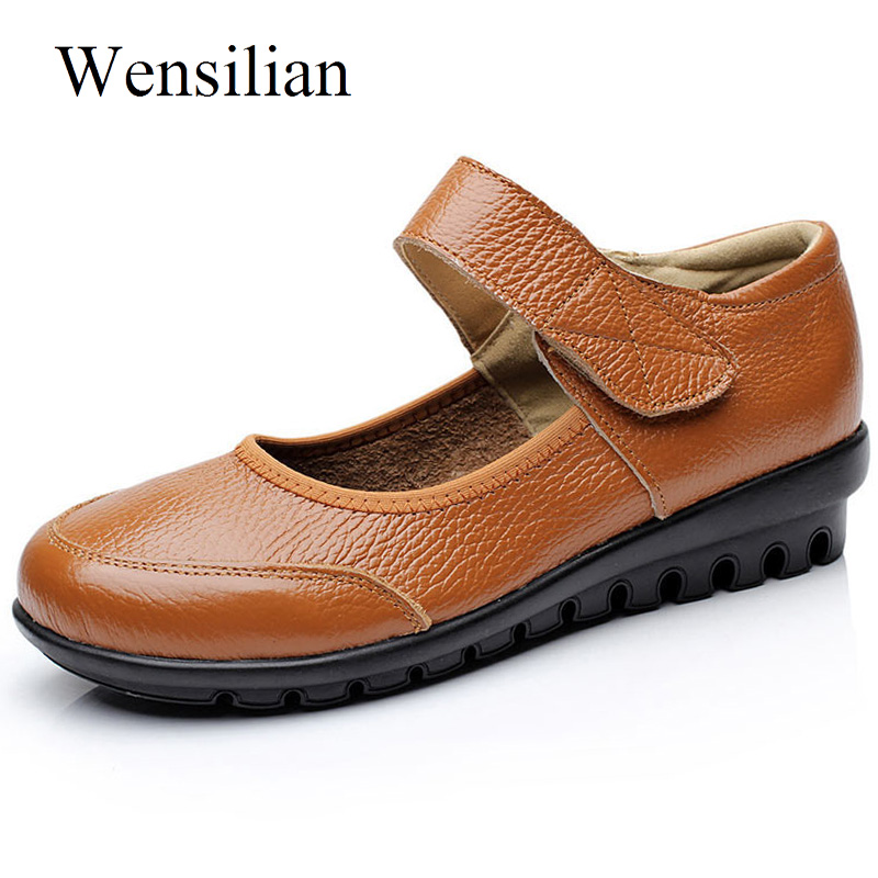 Designer Leather Shoes Women Flats Platform Ladies Shoes Casual Mocassin Femme Shallow Loafers Women Sneakers Zapatos Mujer(China)